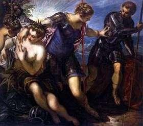 Minerva elimina a Marte de la paz y la abundancia   Jacopo Tintoretto