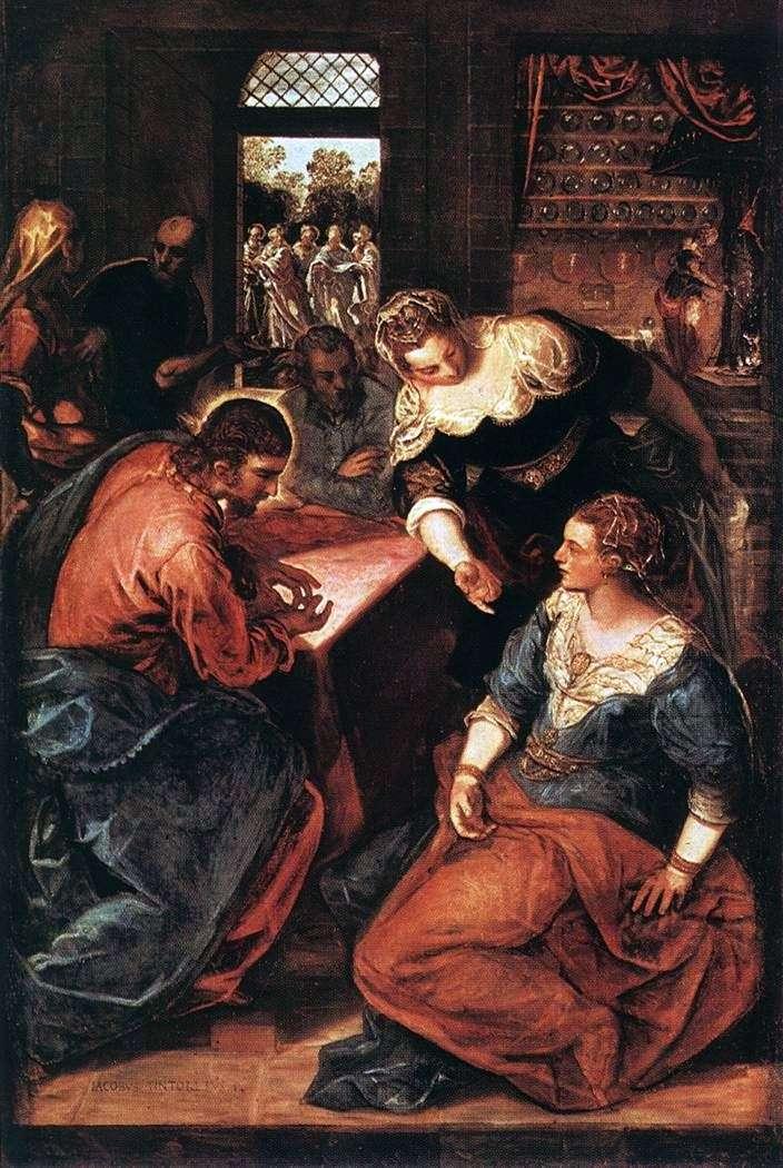 Cristo en la casa de Marta y María   Jacopo Tintoretto