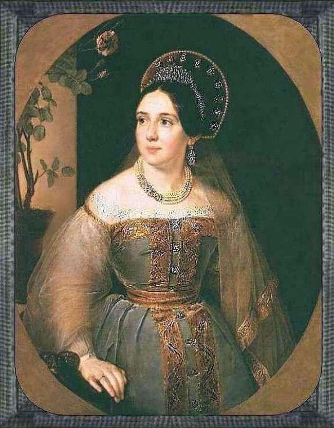 Retrato de un comerciante EI Karzinkina en un traje ruso   Vasily Tropinin