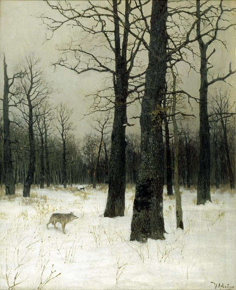 Invierno en el bosque   Isaac Levitan