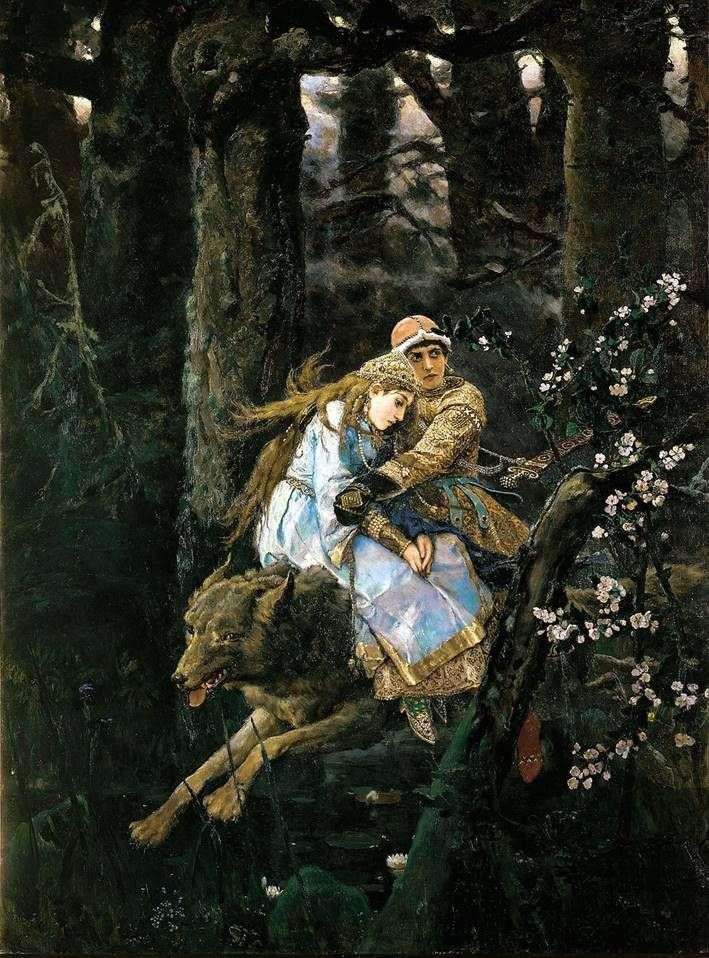 Ivan Tsarevich en el lobo gris   Viktor Vasnetsov