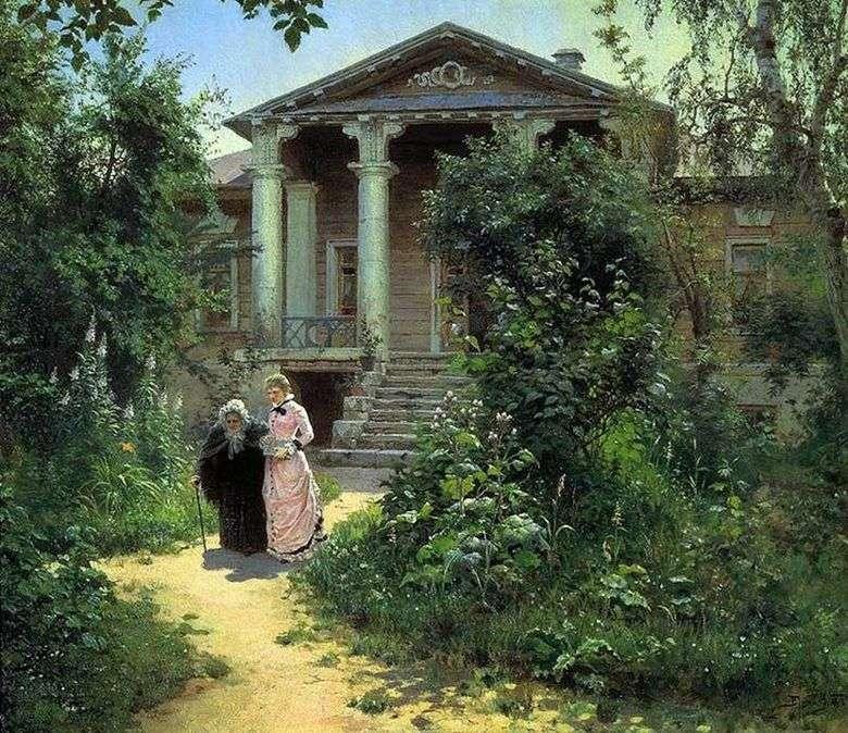 Jardín de la abuela   Vasily Polenov