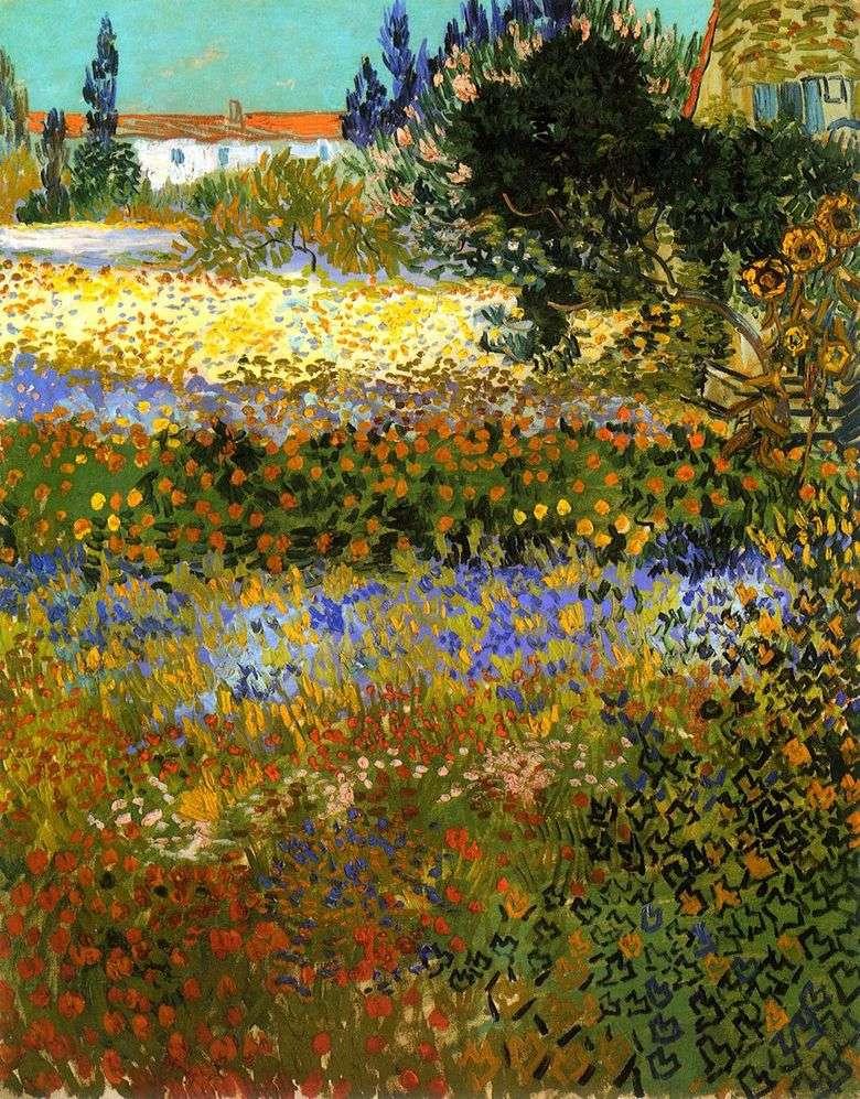 Jardín floreciente   Vincent van Gogh