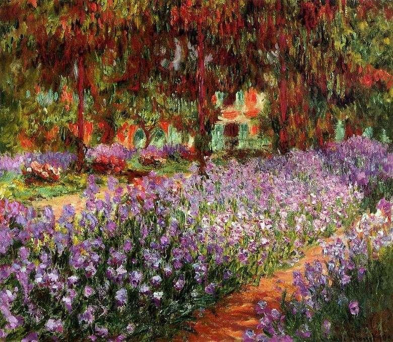 Jardín (Iris) – Claude Monet