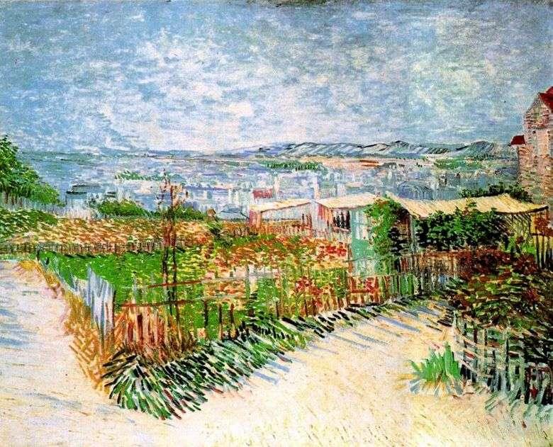 Jardines en Montmartre   Vincent Van Gogh