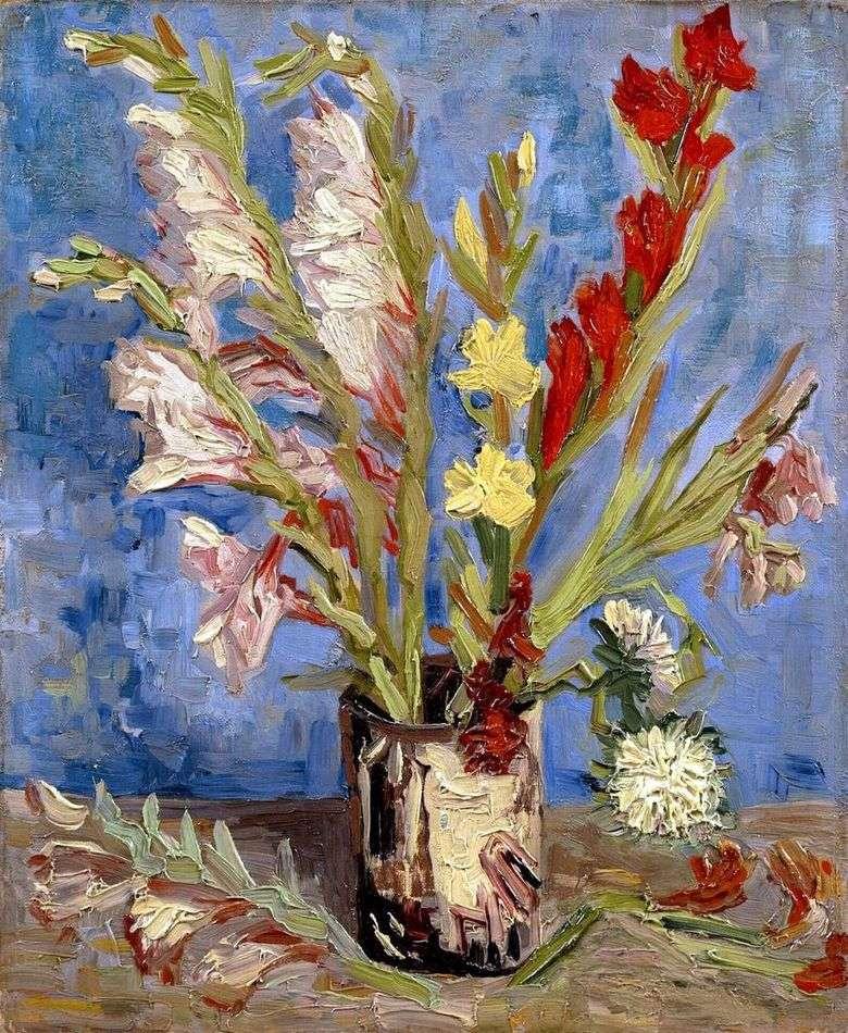 Jarrón con gladiolo   Vincent van Gogh