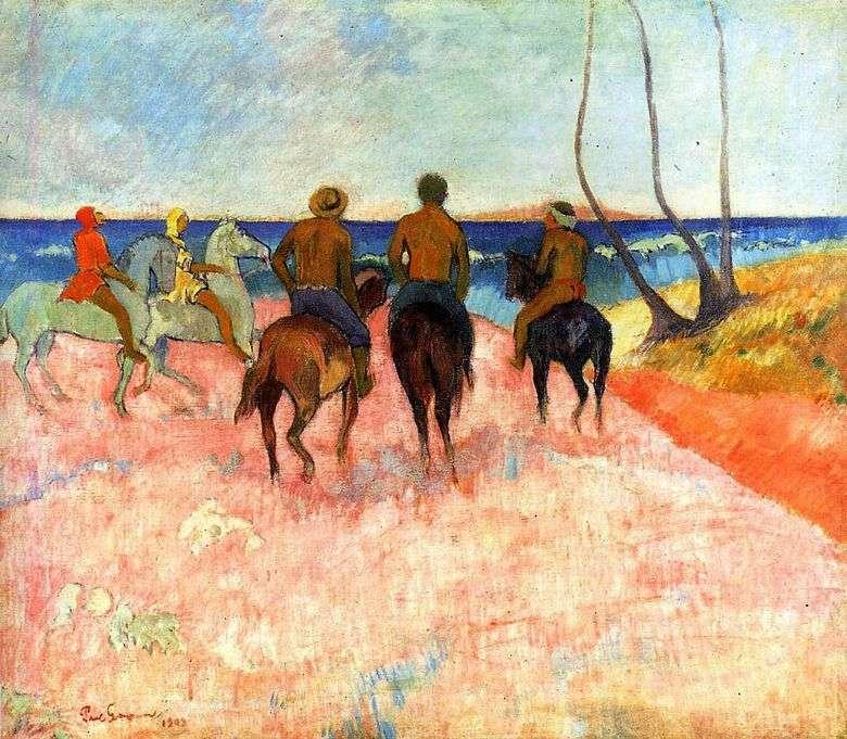Jinetes en la orilla   Paul Gauguin