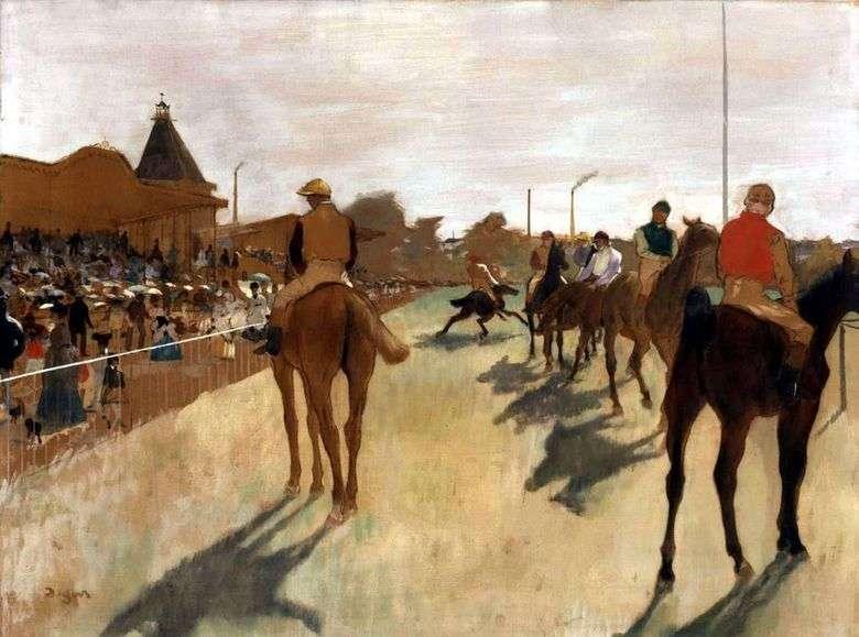 Jinetes frente al podio   Edgar Degas
