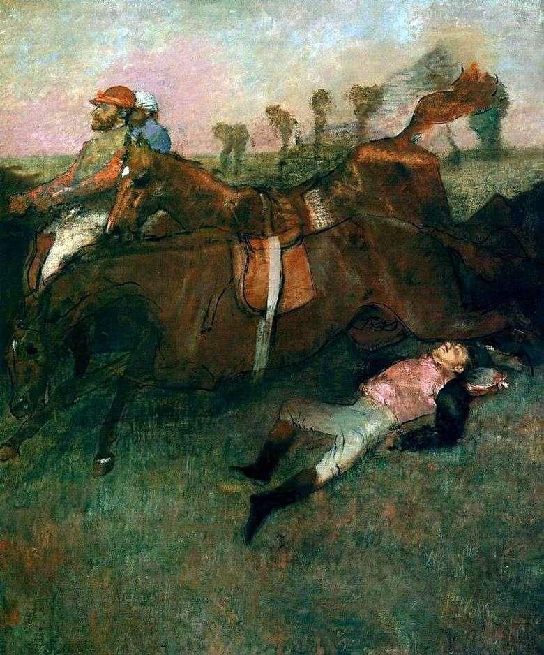 Jockey caído   Edgar Degas