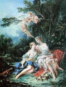 Boucher El Bano De Diana.Jupiter Y Calisto Francois Boucher