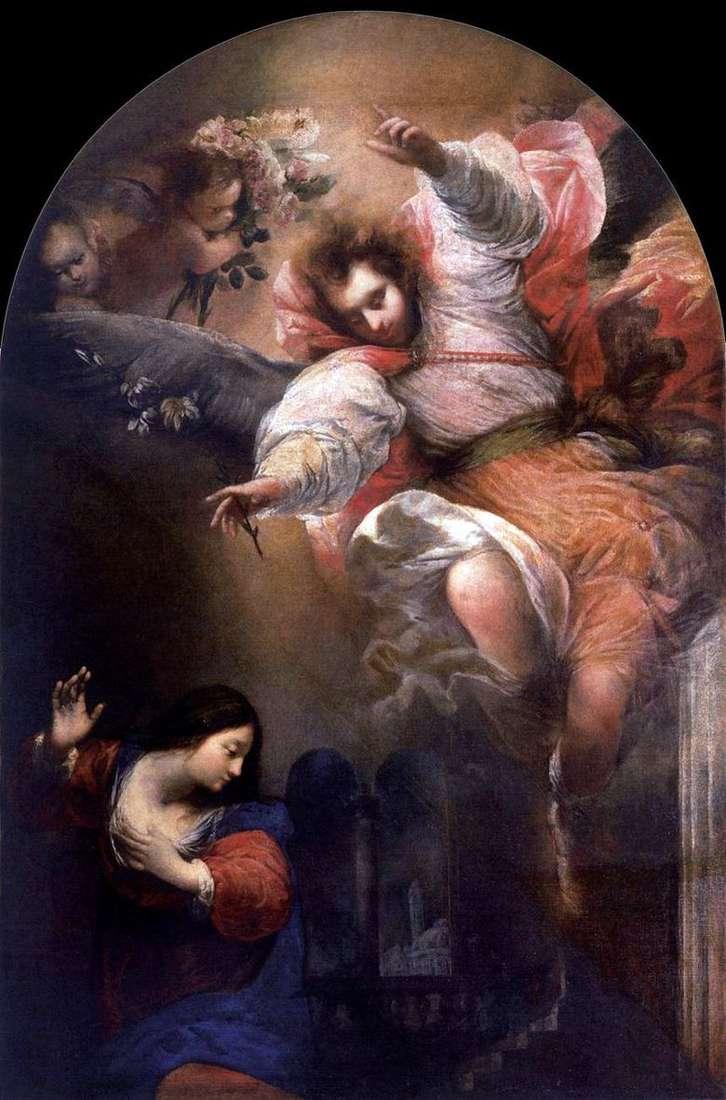 La Anunciación   Sebastiano Mazzoni