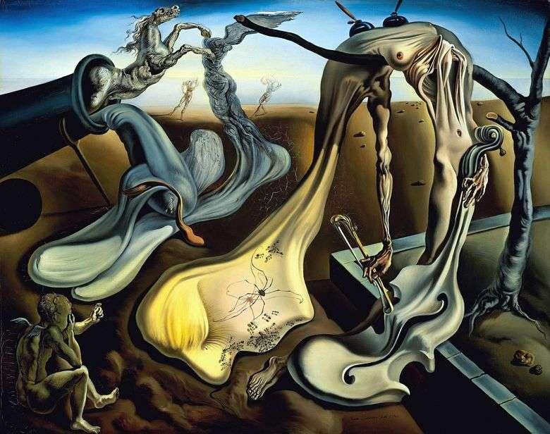 La araña del atardecer promete esperanza   Salvador Dalí