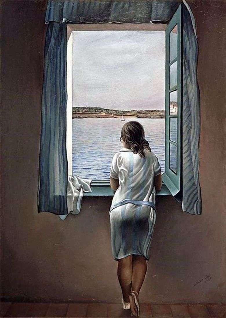 La chica de la ventana   Salvador Dalí