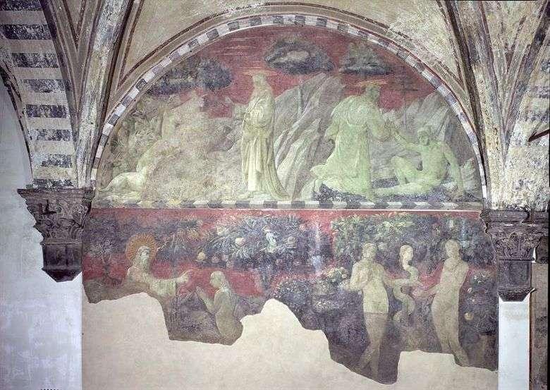 La creación de Adán y los animales terrenales   Paolo Uccello