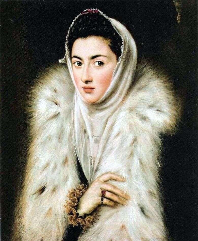 La dama en pieles   El Greco