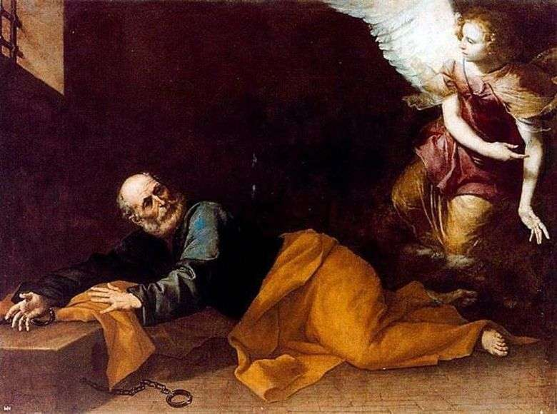 La liberación del apóstol Pedro de la cárcel   Jusepe de Ribera