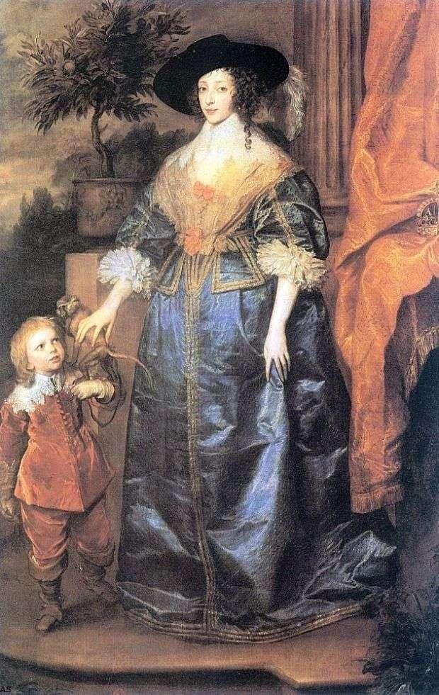 La reina Henrietta Maria y Sir Jeffrey Hudson   Anthony Van Dyck