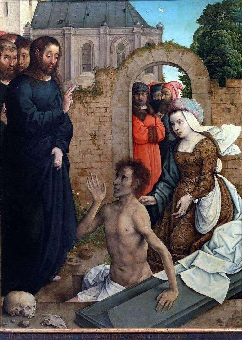La resurrección de Lázaro   Juan de Flandes