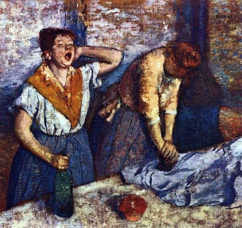 Lavandera acariciando   Edgar Degas