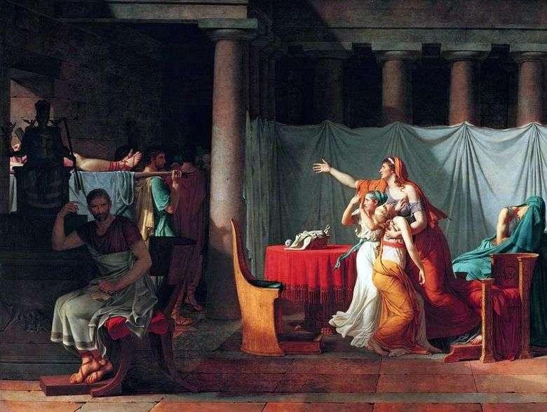 Los licenciadores traen a Bruto los cuerpos de sus hijos ejecutados   Jacques Louis David