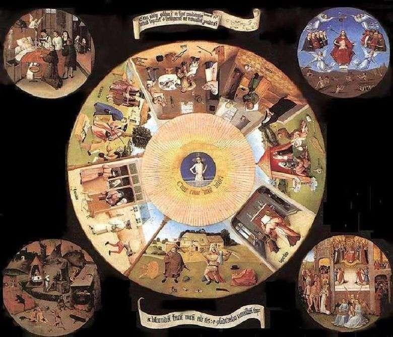 Los siete pecados mortales y las cuatro últimas cosas   Hieronymus Bosch