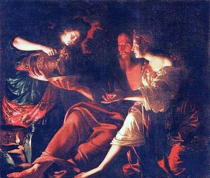 Lot con sus hijas   Giovanni Francesco Gverrieri