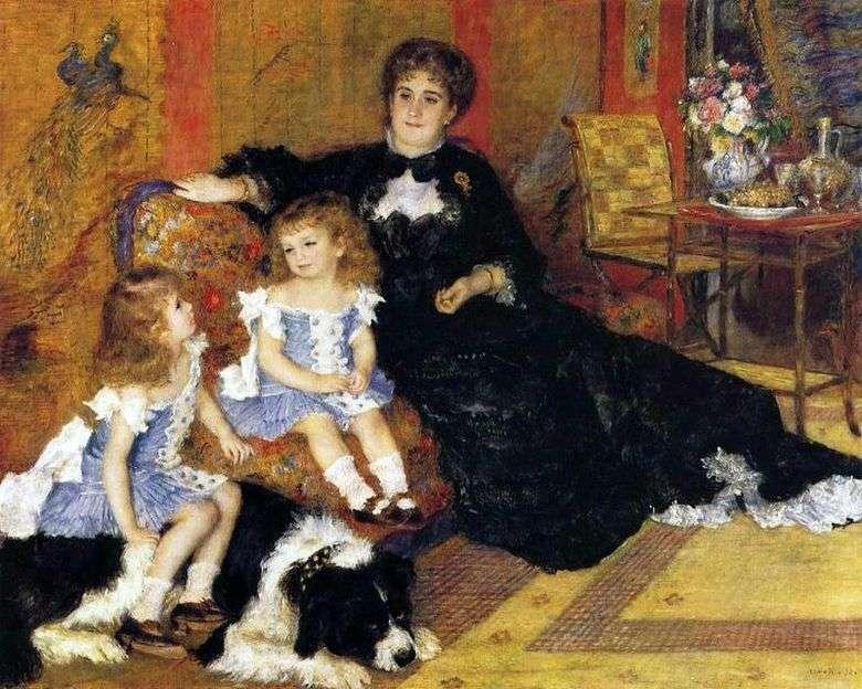 Madame Charpentier con niños   Pierre Auguste Renoir