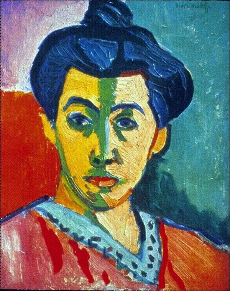 Madame Matisse (Barra Verde)   Henri Matisse