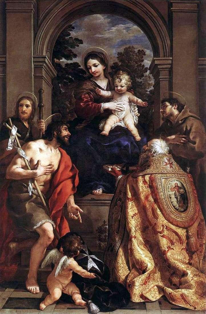 Madonna con los santos   Pietro da Cortona