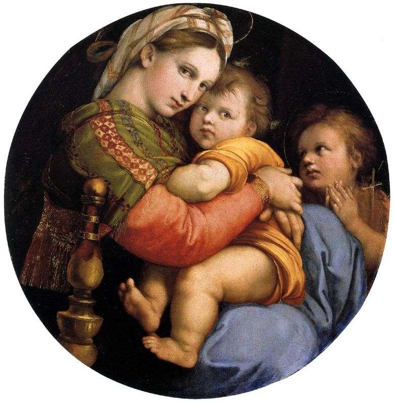 Madonna en la silla   rafael santi