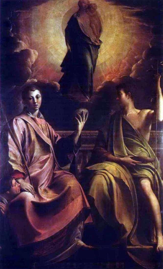 Madonna, San Esteban y Juan el Bautista   Francesco Parmigianino