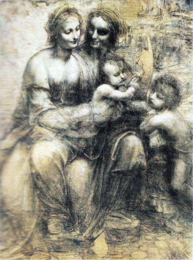 Madonna y el niño, Anna y John   Leonardo da Vinci