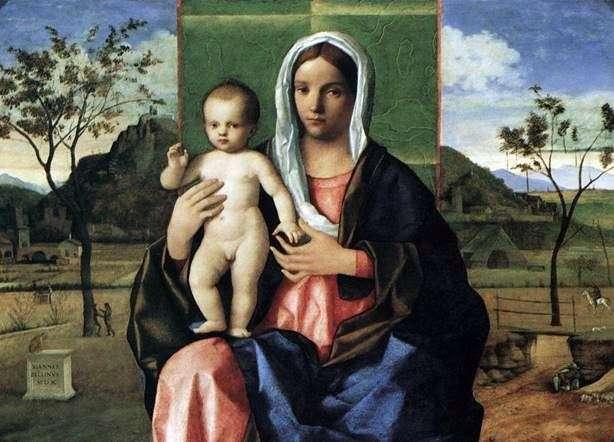 Madonna y el niño con bendición   Giovanni Bellini