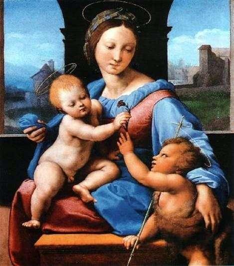 Madonna y el niño con el pequeño Juan el Bautista   Rafael Santi