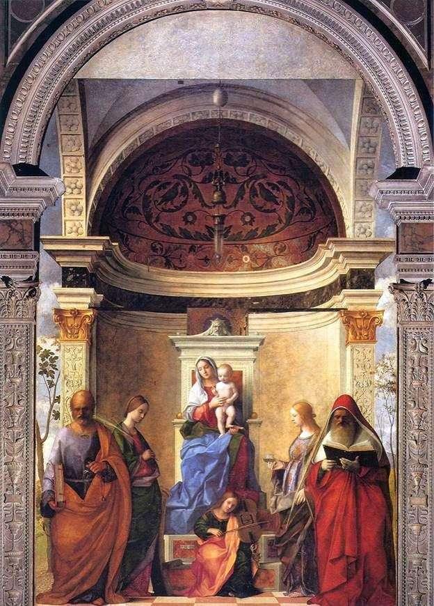 Madonna y el niño con los santos   Giovanni Bellini