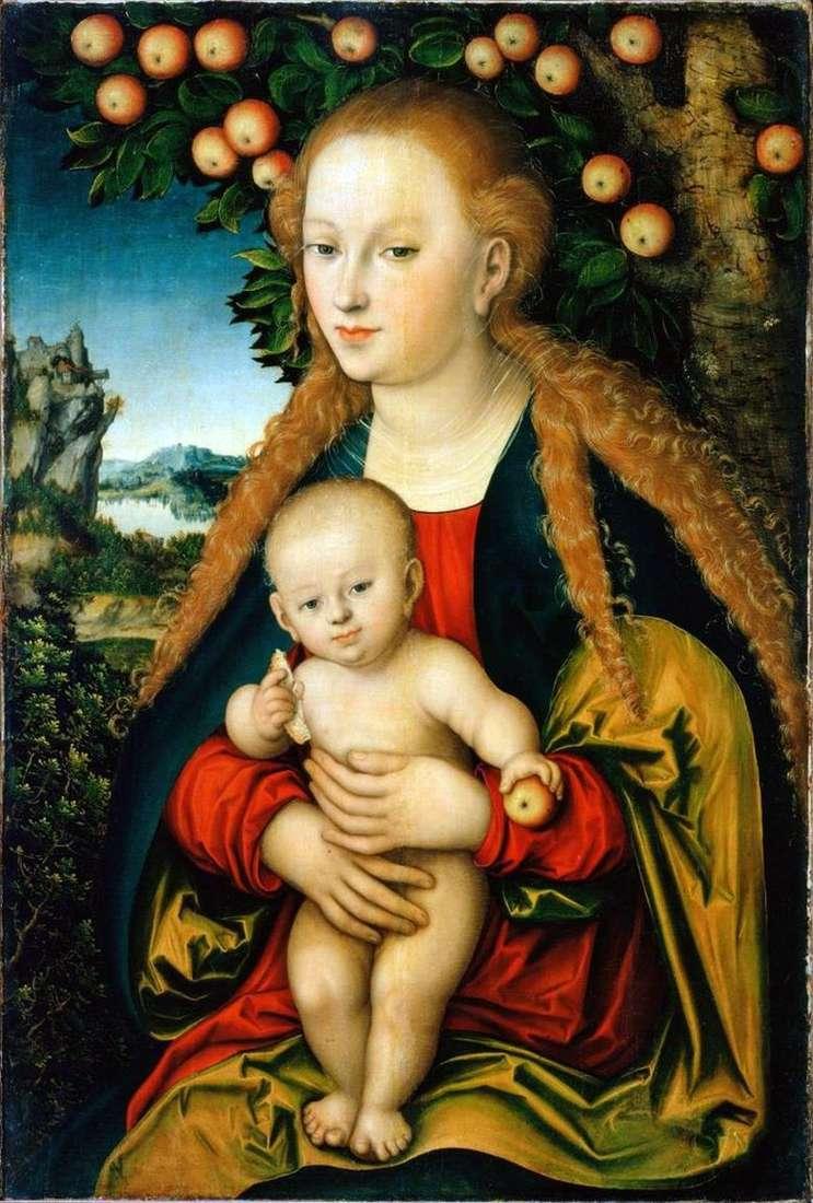 Madonna y niño debajo de un manzano   Lukas Cranach