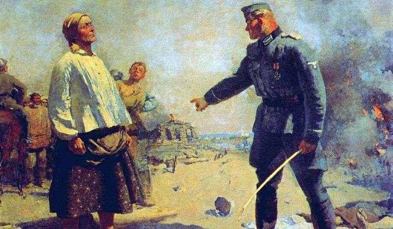 Madre de un partidario   Sergey Gerasimov