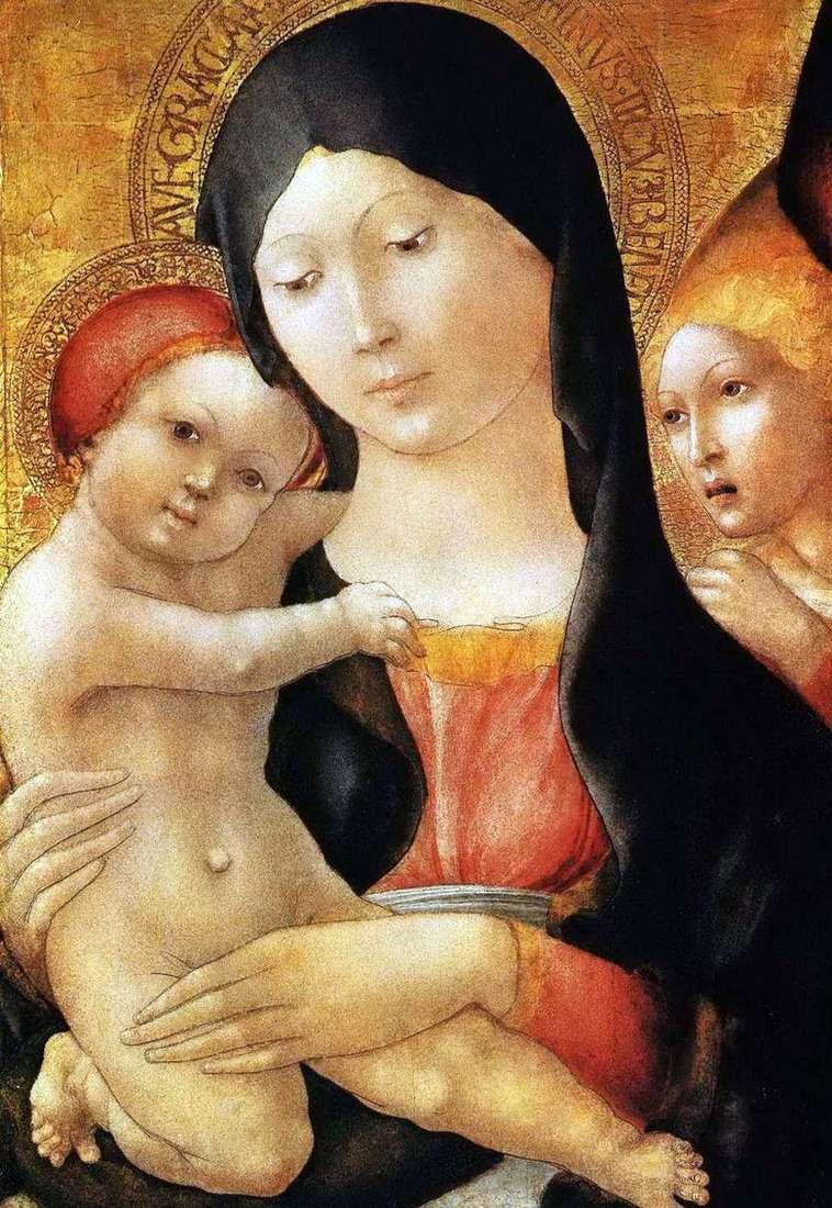 María con el bebé y el ángel   Liberal da Verona