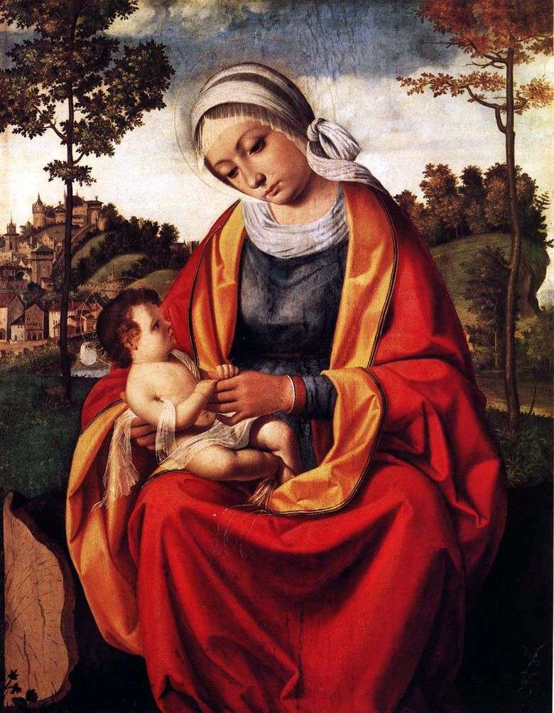 María y el bebé   Andrea Previtali