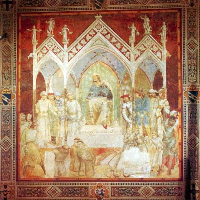 Martirio de los Franciscanos en Ceuta   Pietro Lorenzetti