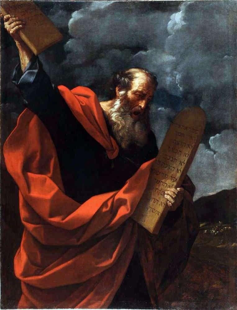 Moisés con las Tablas de la Ley   Guido Reni