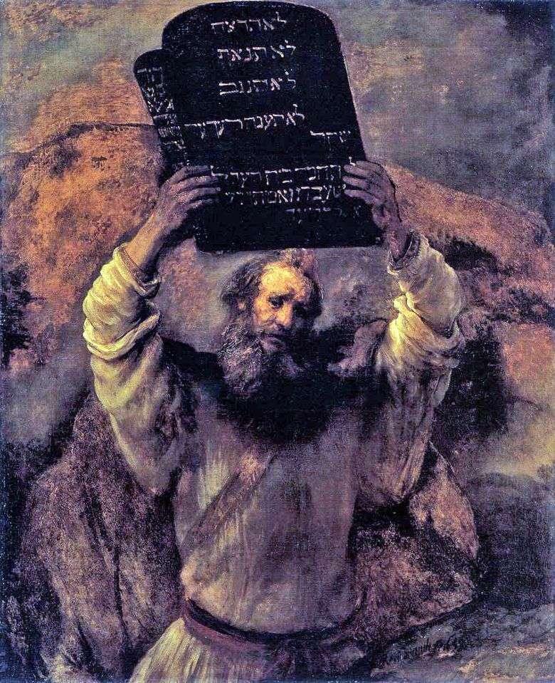 Moisés con las Tablas de Leyes   Rembrandt Harmens Van Rhine