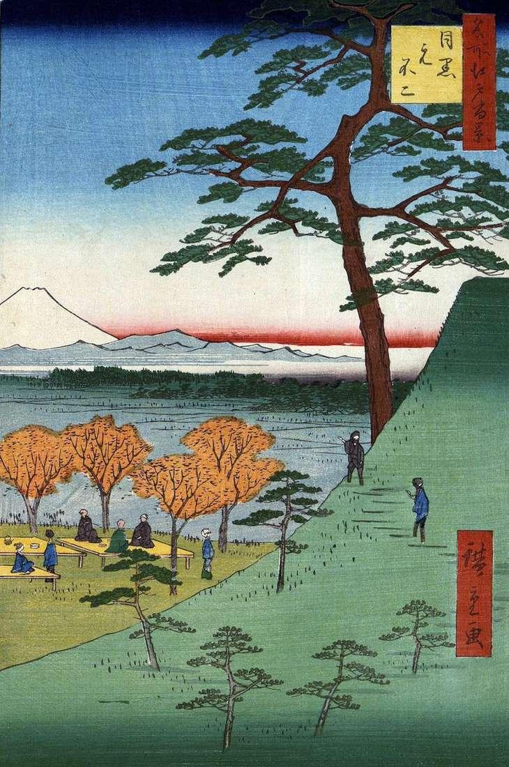 Motofuji en Meguro   Utagawa Hiroshige