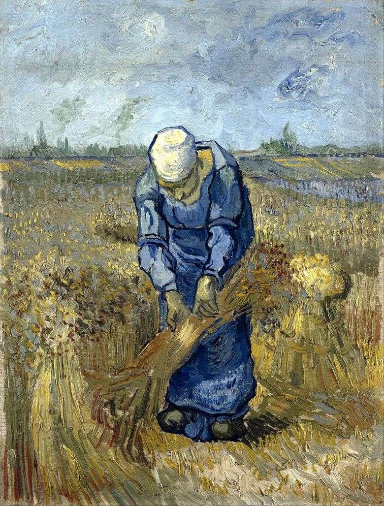 Mujer campesina tejer gavillas (por mijo)   Vincent van Gogh