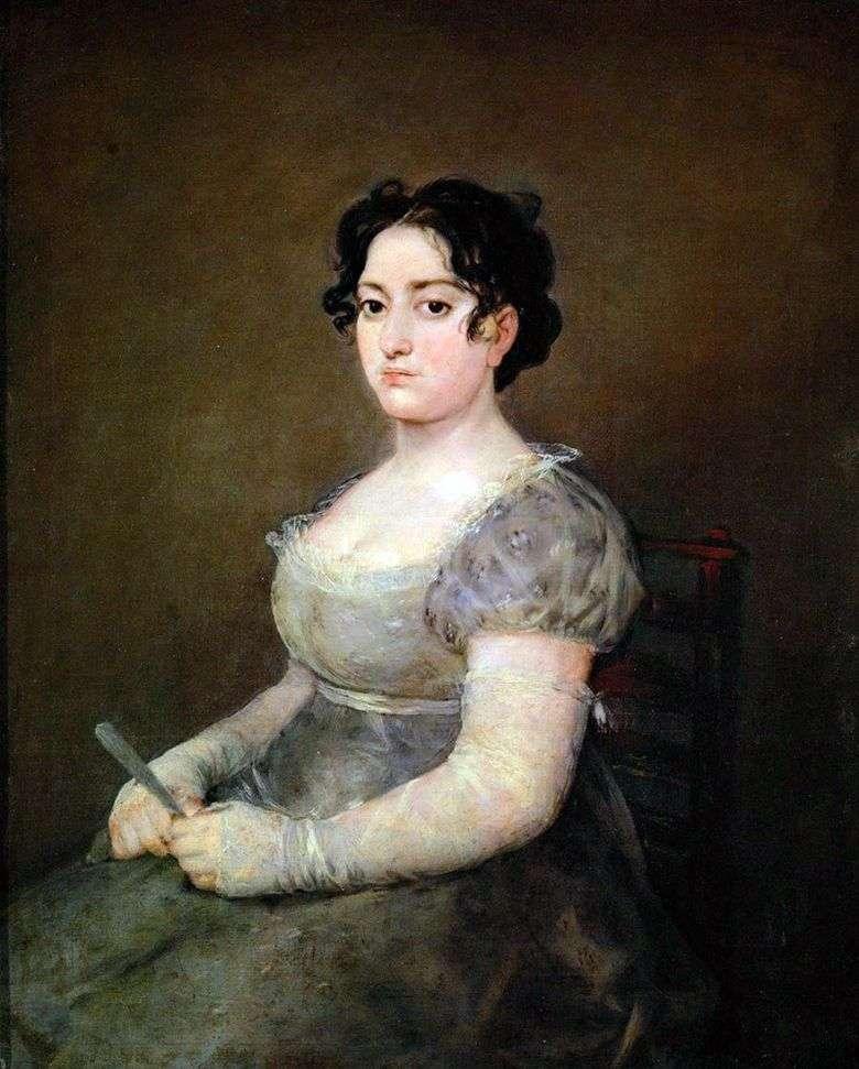 Mujer con un abanico   Francisco de Goya