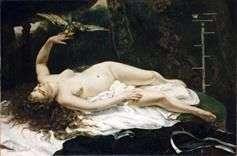 Mujer con un loro   Gustave Courbet