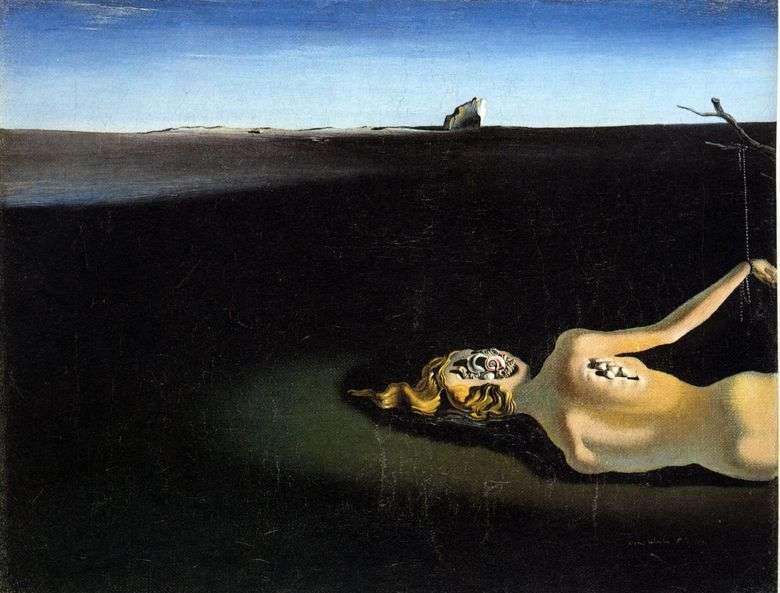 Mujer dormida en un paisaje   Salvador Dali