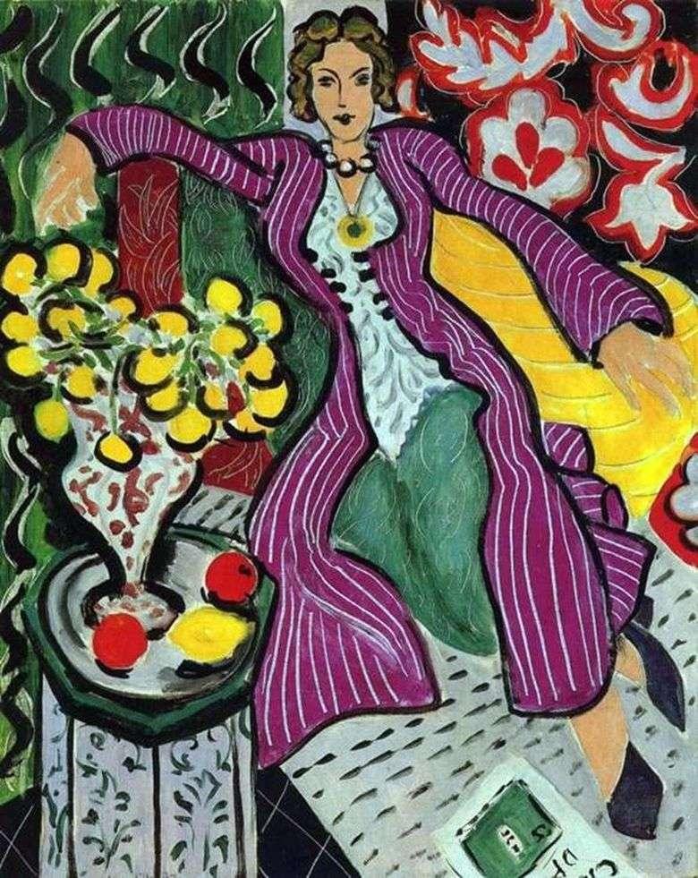 Mujer en un abrigo morado   Henri Matisse