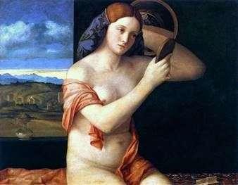 Mujer joven detrás del inodoro   Giovanni Bellini