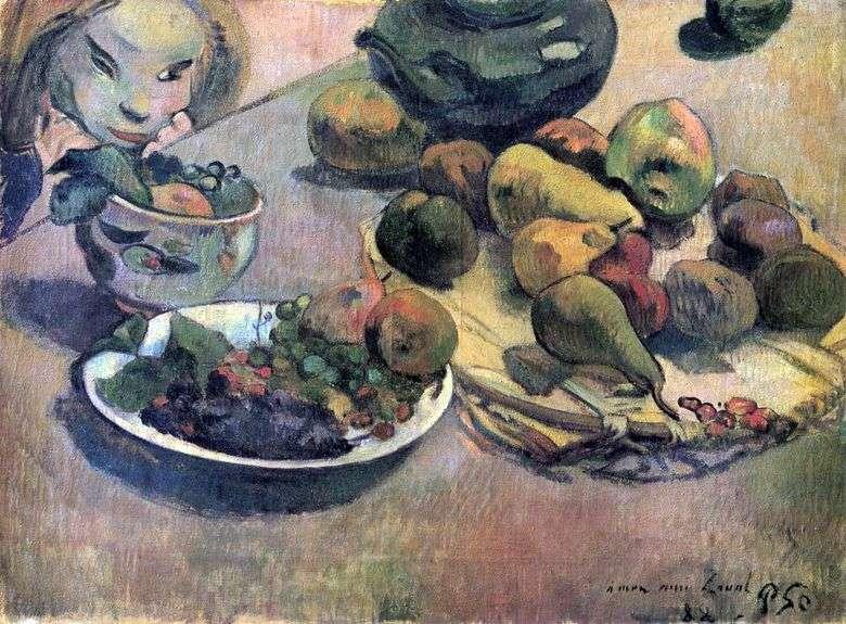 Naturaleza muerta con fruta   Paul Gauguin